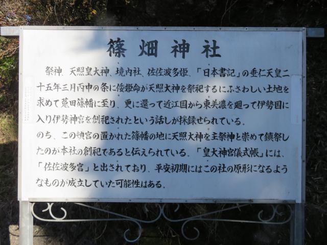 奈良県篠畑神社の歴史