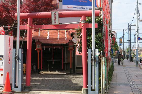 東京都正一位稲荷大明神の鳥居