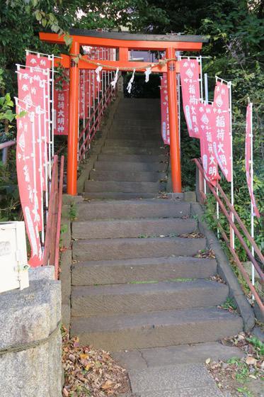 中本一稲荷神社の鳥居