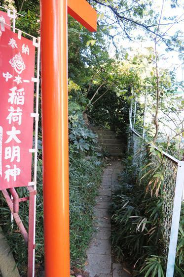 中本一稲荷神社の景色