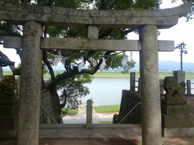 福岡県水天宮の鳥居