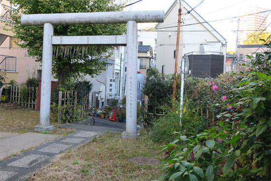 東京都第六天神社の鳥居