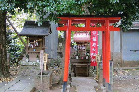 東京都中野氷川神社の鳥居
