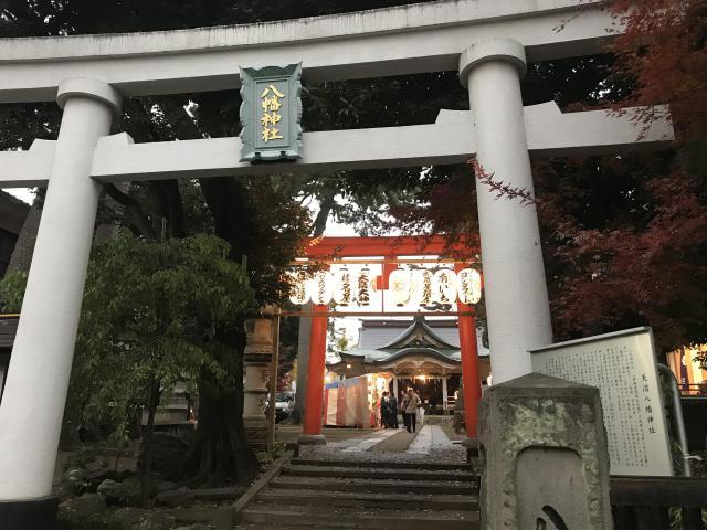 東京都天沼八幡神社の鳥居