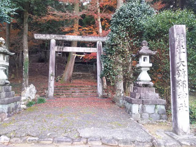 岐阜県大跡部神社の鳥居