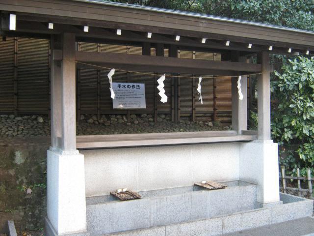 神明社(神奈川県天王町駅) - 手水舎の写真