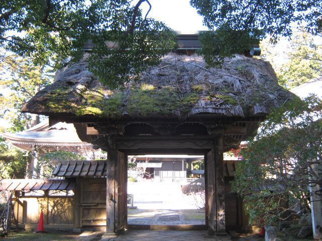 千葉県清澄寺の山門