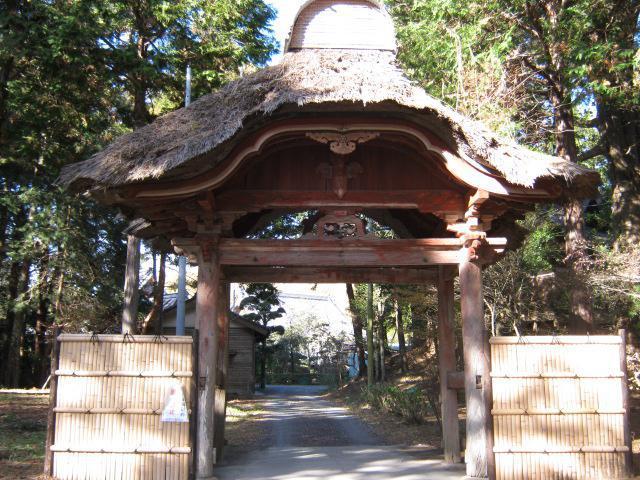 千葉県鏡忍寺の山門