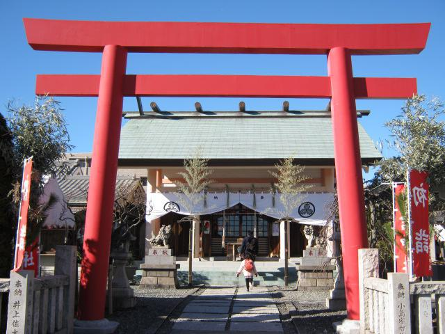 神奈川県住吉神社の鳥居
