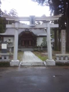 福井県大虫神社の鳥居
