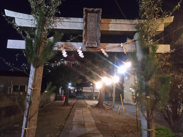 厳島神社(埼玉県松原団地駅) - 鳥居の写真