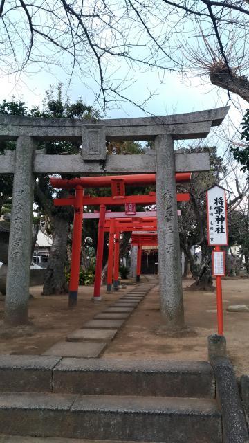 福岡県将軍神社の鳥居