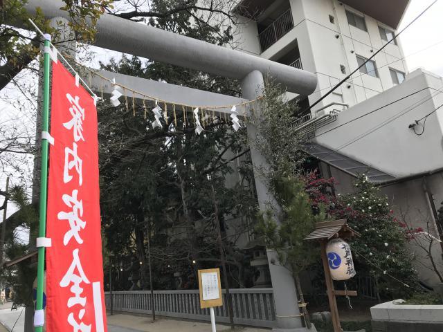 千葉県松戸神社の鳥居