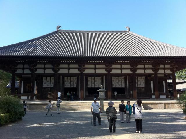 奈良県唐招提寺の本殿