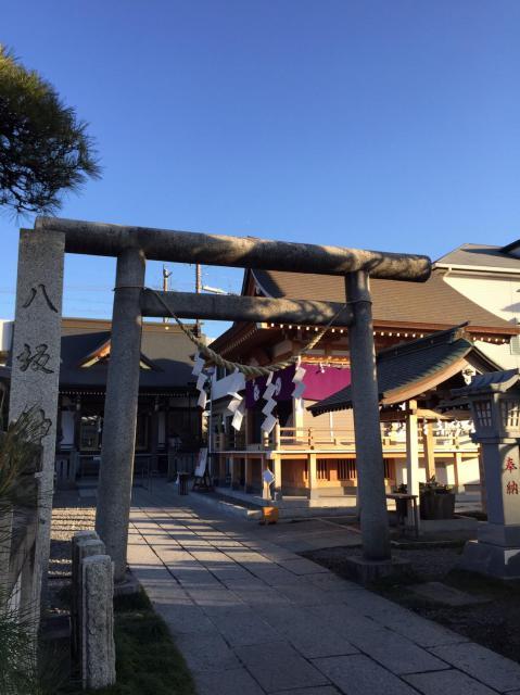 栃木県今泉八坂神社の鳥居