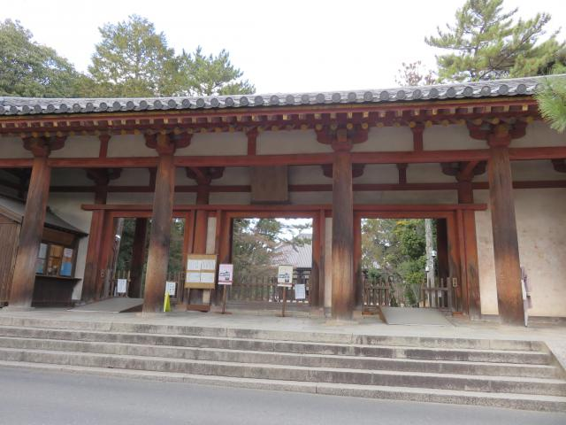 奈良県唐招提寺の山門
