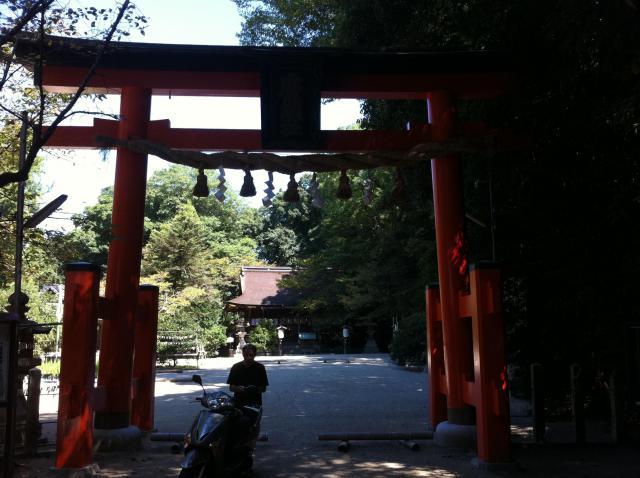 奈良県廣瀬大社の鳥居