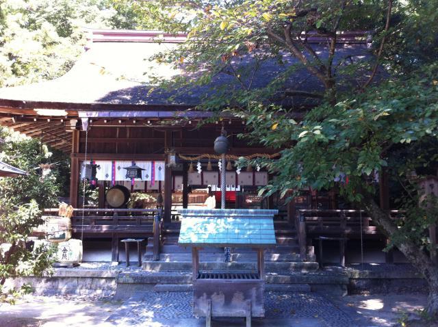 奈良県廣瀬大社の本殿