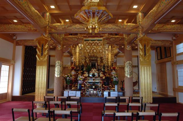 大阪府長福山 本地院 本性寺の本殿