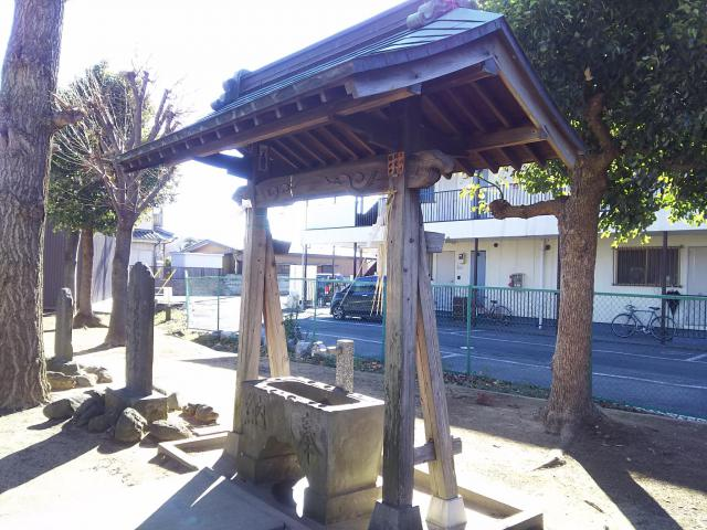 瓦曽根稲荷神社の手水