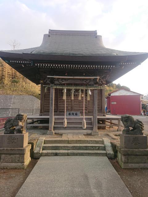 神奈川県下倉田八幡神社の本殿