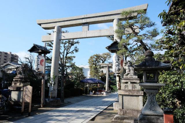京都府西院春日神社の鳥居