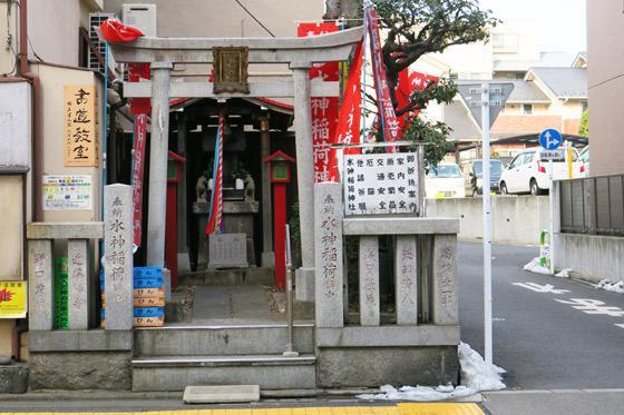東京都田端水神稲荷神社の鳥居