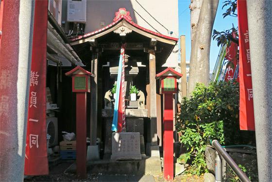 東京都田端水神稲荷神社の本殿