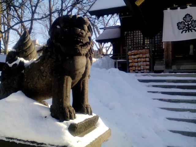 諏訪神社(北海道北13条東駅) - 狛犬の写真