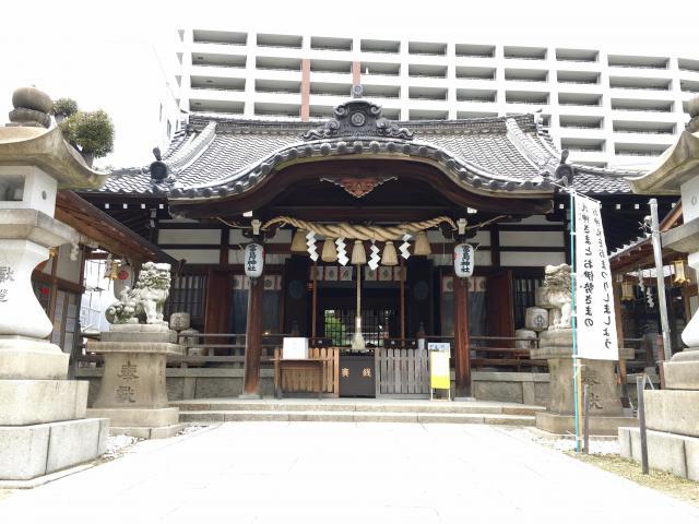 大阪府富島神社の本殿