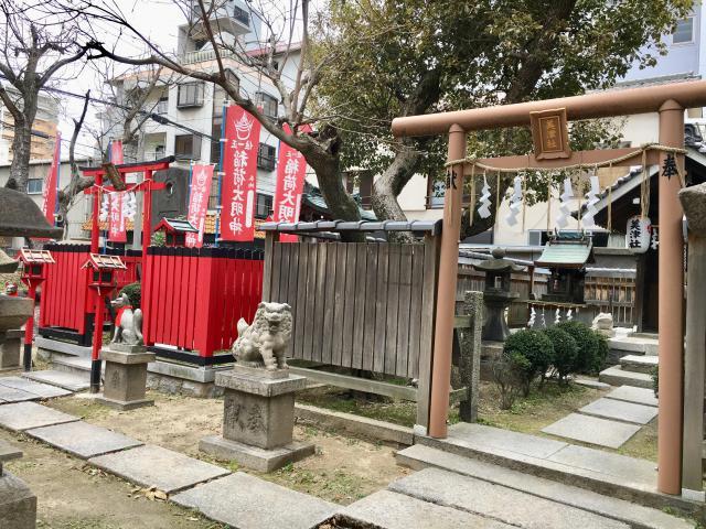 大阪府富島神社の鳥居