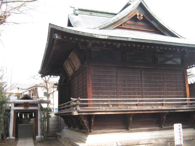 東京都八幡八雲神社の本殿