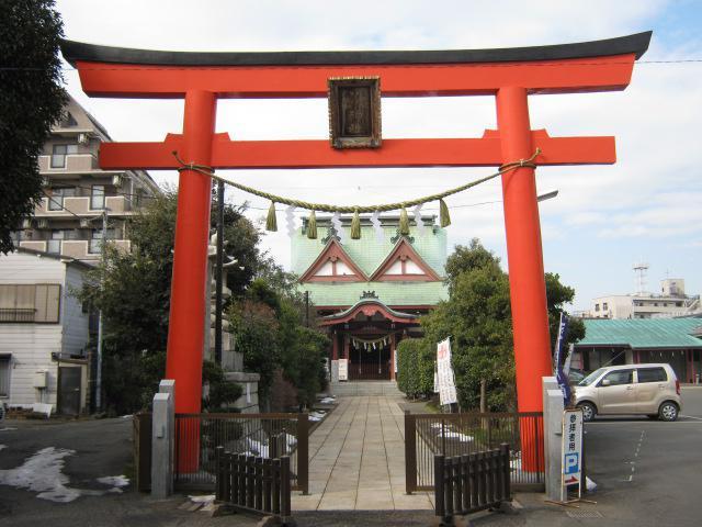 東京都八幡八雲神社の鳥居