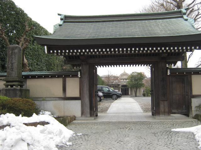 東京都本立寺の山門