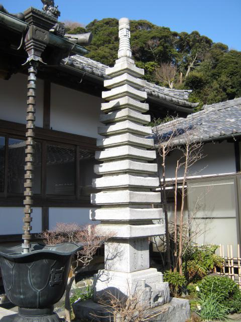 薬王寺(神奈川県鎌倉駅) - 塔の写真