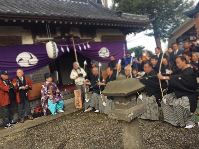 埼玉県下老袋氷川神社のお祭り