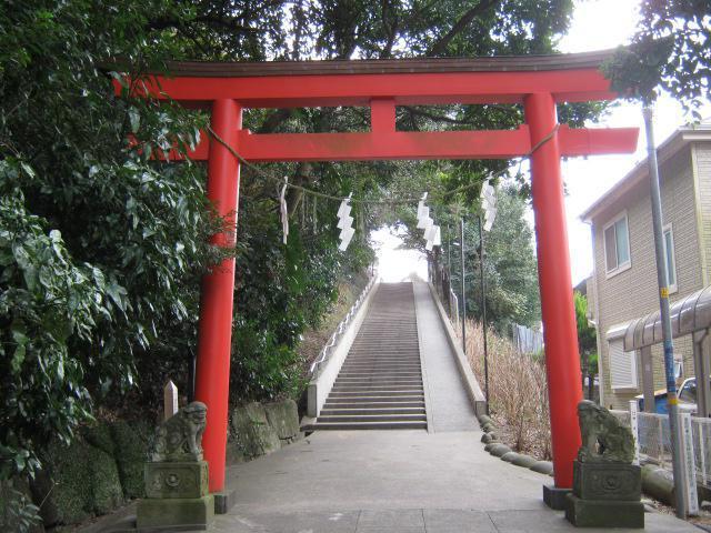 神奈川県富岡八幡宮の鳥居