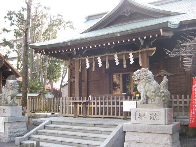 神奈川県日枝神社の本殿