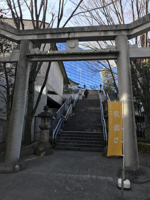 東京都北谷稲荷神社の鳥居