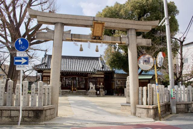 跡部神社の鳥居
