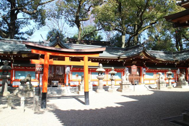 大阪府杭全神社の本殿