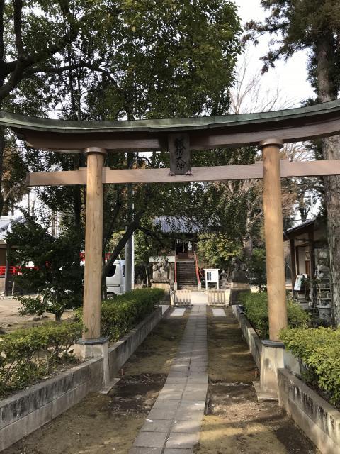 群馬県諏訪神社の鳥居