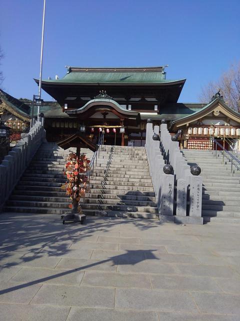 愛媛県伊豫豆比古命神社の本殿