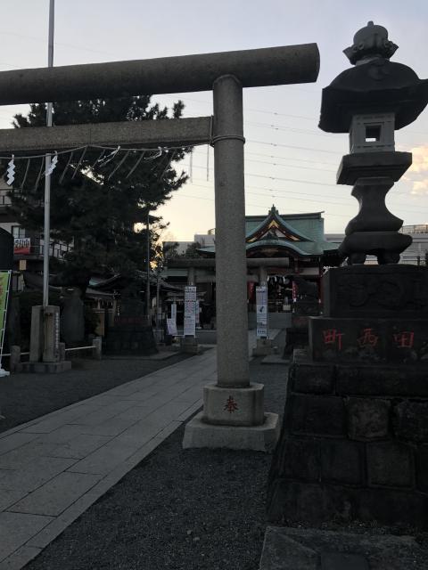 東京都羽田神社の鳥居