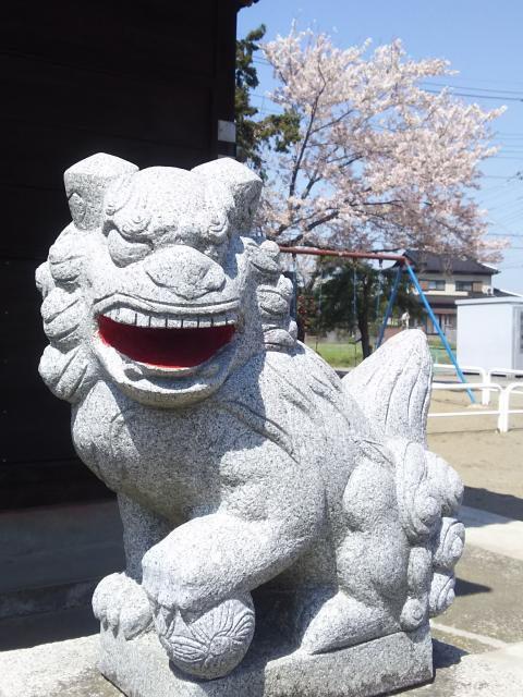 埼玉県香取神社(田島神社)の狛犬