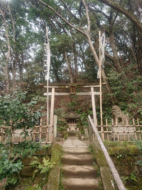神奈川県三渓園天満宮の鳥居