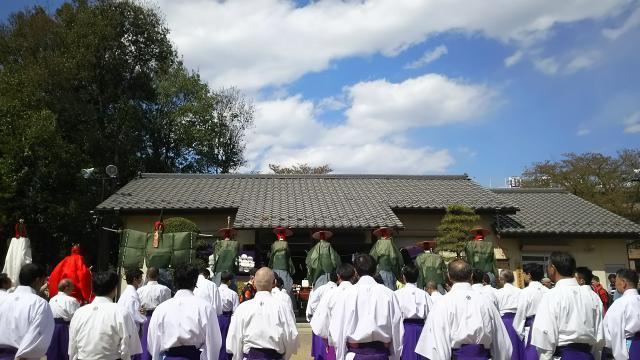 山梨県天津司社の神楽