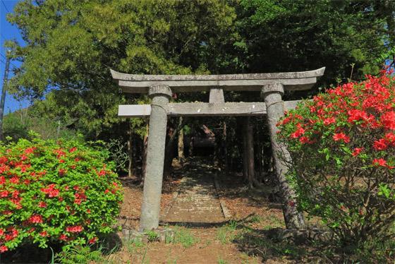 山梨県若宮八幡神社の鳥居
