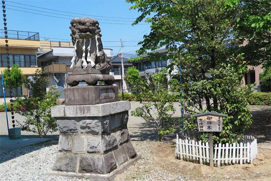 山梨県文珠神社の狛犬