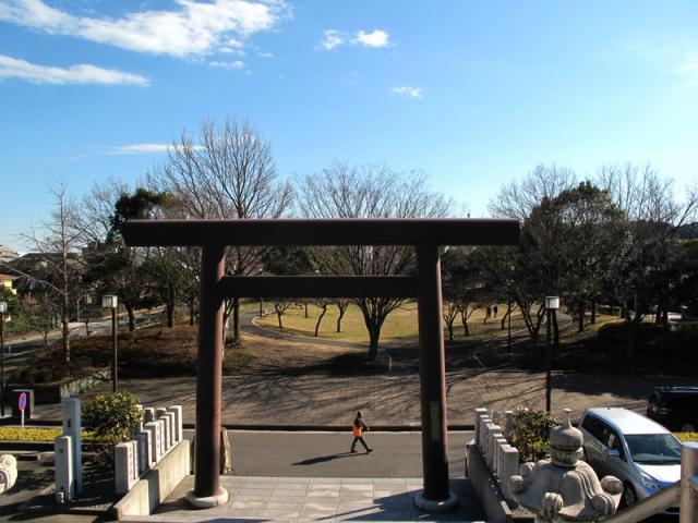 神奈川県本牧神社の鳥居